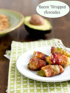 Bacon Wrapped Avocados. Brown sugar bacon with a hint of spice, all wrapped around a creamy piece of avocado. The appetizer that's making the others jealous. ohsweetbasil.com
