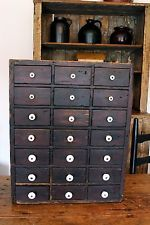 Merveilleux RARE AAFA EARLY ANTIQUE 21 DRAWER APOTHECARY CABINET CUPBOARD ORIGINAL  KNOBS!!