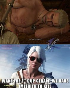 Funny Memes Images, Cute Memes, Funny Pictures, The Witcher Game, Witcher Art, Gamer Humor, Gaming Memes, Cd Project Red, The Last Wish