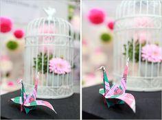 """Tatjana vom Blog """"Sweet Table"""" präsentierte sie uns eine phantastische Origami-Kreation zum Hochzeitsbloggerinnen-Contest 2013"""