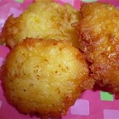 "Summer Squash Puffs - These puffs were like hushpuppies, leading us to refer to them as ""squashpuppies."" Delicious!"