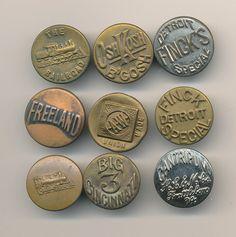 Antique Workwear Vintage Clothes Buttons