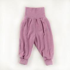 Wol/zijden broek, zacht roze