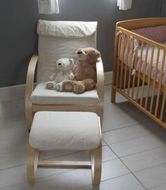 Kiddicare Nursery Chair and Stool Natural | Kiddicare