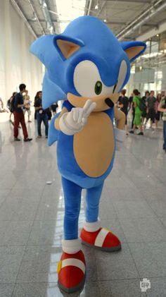 Sonic the hedgehog! Sonic Birthday Cake, Sonic Birthday Parties, Sonic Party, Sonic The Hedgehog Costume, Sonic Costume, Video Game Cosplay, Epic Cosplay, Mascot Costumes, Halloween Costumes