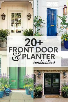 20 Front Door Ideas Front Door and Planter Combinations Matching Planters on each side of the Front Door Front Entry Exteriors Front Door Colors by Front Entry Decor, Home Entrance Decor, Front Door Entrance, Exterior Front Doors, House Entrance, Door Entry, Front Entrances, Doorway, Front Door Paint Colors