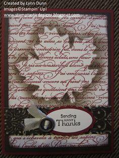 Stamptastic Designs: Masked Thank You Card