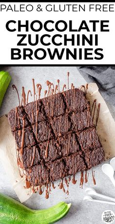Fudgy and rich paleo zucchini brownies make the perfect summertime treat! With tons of zucchini on hand from summer gardens, this is a great zucchini recipe idea! Plus, using almond flour and coconut flour, they're paleo, gluten free, and low carb.