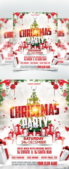 Merry Christmas Flyer Template  Christmas Flyer Flyer Template