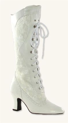 WHITE LACE HIGH TOPS >> Victorian Trading Co >> $59.95 >> The kind of high tops I could get into! I wish the places where the lace is were transparent, but this is still amazing.