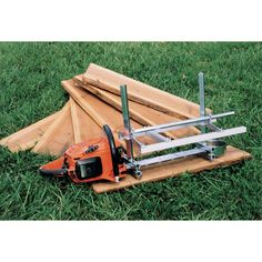 This versatile heavy-duty lumber mill converts rough logs into beautiful slabs in thicknesses from 1/2in. to 12in. No bar drilling is necessary; the MK III clamps onto the chain bar. Saw not included. Easy rail system sold separately.