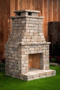 Outdoor living kits to add function and value to your home Fremont DIY Outdoor Fireplace Kit. Outdoor Fireplace Plans, Outside Fireplace, Outdoor Fireplace Designs, Backyard Fireplace, Diy Fireplace, Fire Pit Backyard, Backyard Patio, Outdoor Fireplaces, Outdoor Wood Burning Fireplace
