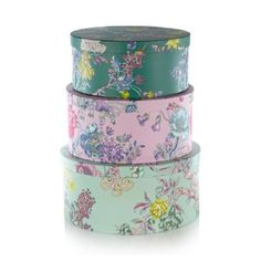 Butterfly Home by Matthew Williamson Designer set of three green floral storage boxes- at Debenhams.com