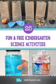 Engage little learners with hands-on kindergarten science activities that help them learn how the world works in lots of fun ways. Check out all the fun and free science activities for Kindergarteners at weareteachers.com! Kindergarten Science Experiments, Homeschool Kindergarten, Science Experiments Kids, Science Lessons, Science For Kids, Science Ideas, Esl Learning, Craft Activities For Kids, Kids Crafts