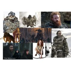 The Wildlings - Game of Thrones by gabriele-bernhard on Polyvore featuring art, GameOfThrones and thewildlings