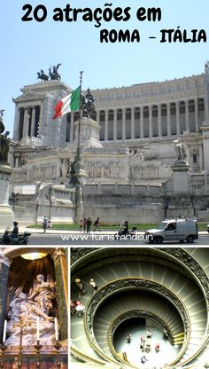 Uma seleção das 20 atrações mais importantes de Roma, capital da Itália e Vaticano, passando do antigo ao barroco. #Roma #Rome #Italia #italy #vatican #vaticano #cittadelvaticano #oquefazeremRoma #dicasroma
