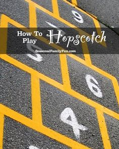 How To Play Hopscotch #games #outdoorplay #hopscotch