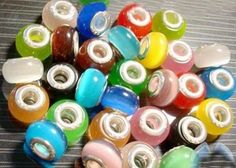 Tophatter : Euro Bracelet Supplies No.84: April 3, 8pm EDT  Starts at $6 Fifteen Mixed Color Cat's Eye Beads