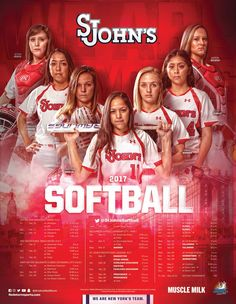 2017 St. Johns Softball Poster