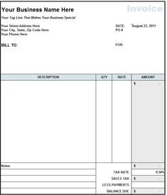 How To Bill For Consulting Services Sample Printable Invoice Format In Excel