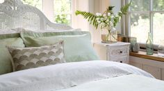 ferns and lilly of the valley bedroom floral arrangement