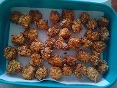 Apfel-Karotte Nockerl (gesundes Leckerlie) / 1 Apfel und 1 Karotte schälen und fein reiben, dazu 2 Eier, 150g Dinkelmehl, 150g Haferflocken. Mehl und Wasser nach Belieben dazu (ich brauchte nur bisschen Mehl zum Kneten). Den Teig gut durchkneten, vermengen und mit einem kleinen Teelöffel zu ca 40 großen Nockerl formen. Auf ein Blech mit Backpapier legen. Backofen auf 180° vorheizen. Die Kekse 30 Min backen lassen. Danach Backofen ausschalten und sie noch eine Stunde darin ruhen lassen, damit…