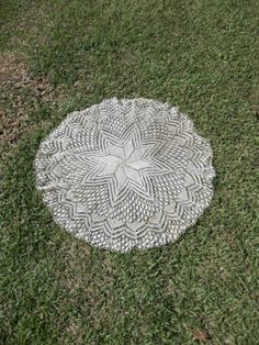 Vintage Lace Tablecloth Round Topper Wedding Decor by misshettie, $18.00