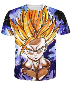 Like and Share if you want this  Gohan SSJ2 T-Shirt   Tag a friend who would love this!   FREE Shipping Worldwide   Get it here ---> https://www.shenronstore.com/teen-spirit-t-shirt-teenaged-gohan-dragonball-z-super-saiyan-cartoon-character-3d-print-t-shirt-tees-for-women-men/