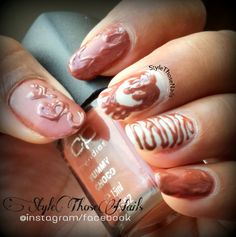 Style Those Nails: Melting chocolate Nails for Chocolate Day - Valentine Week Nails !
