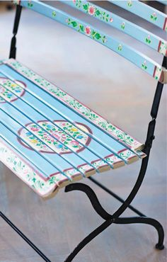 Love this painted chair.
