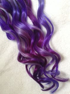 Purple Ombre Dip Dyed Hair Clip In Hair Extensions by Cloud9Jewels