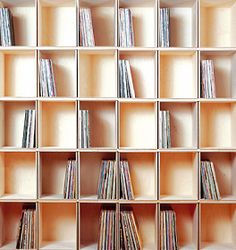 shelving system for vinyl records (LPs)