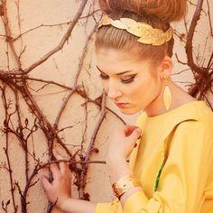 Lady in Gold    Design: loveyoumore  Model: Viktoria Santi  MUA: Agata Drzazga  Photo: Weronika Kobylińska-Bunsch  Jewellery designer: Galeriapod3