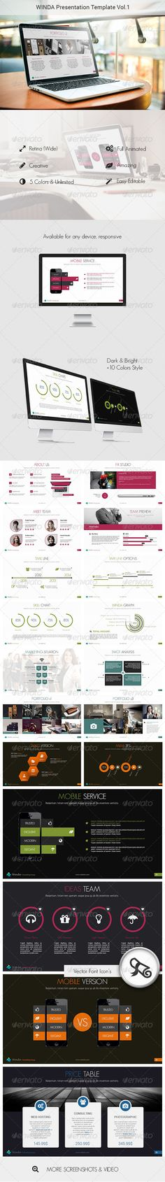 3D Paper Infographic Powerpoint Template (Powerpoint Templates ...