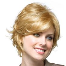"""8"""" Human Hair Full Lace Wig Wavy Strawberry Blonde"""
