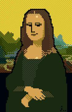((( TRETA ))) › Obras de arte famosas refeitas com pixels! Repinned to Pixel Art by Aline