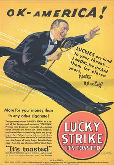 Lucky Strike Walter Winchell OK America 1932 - Mad Men Art: The 1891-1970 Vintage Advertisement Art Collection