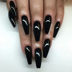 Opting for a classy and chic #blacknails seems to make a fashion statement with your fingers. #Classynails can suit just about every ...