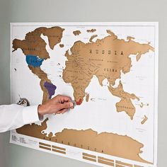 I want this soooo bad!! Great gift idea for the world traveler. Scratch off world map poster by luckies | notonthehighstreet.com