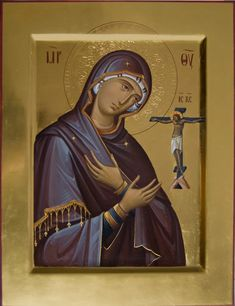 Delicate Fluidity: The Icons of Anton and Ekatarina Daineko – Orthodox Arts Journal Religious Images, Religious Icons, Religious Art, Religious Paintings, Blessed Mother Mary, Best Icons, Byzantine Icons, Art Icon, Orthodox Icons