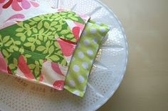 make a microwave heating pad - visiting teaching gift idea