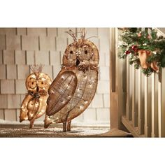 Burlap Owl Family Pinned by www.myowlbarn.com