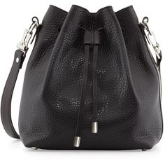 Proenza Schouler Pebbled Bucket Crossbody Bag, Black (62.520 RUB) ❤ liked on Polyvore featuring bags, handbags, shoulder bags, accessories, purses, cross-body handbag, shoulder handbags, purses crossbody, slouchy shoulder bag and slouch shoulder bag