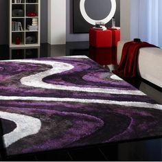 shaggy vibrant gray u0026 purple handtufted area rug purple hands shaggy and gray