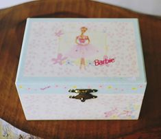 Your place to buy and sell all things handmade Earring Jewelry Box, Kids Jewelry Box, Large Jewelry Box, Musical Jewelry Box, White Jewelry Box, Wooden Jewelry Boxes, Ballerina Barbie, Faberge Jewelry, Pink And Blue Flowers