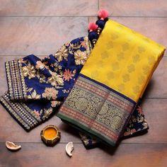 Half Saree Designs, Silk Saree Blouse Designs, Fancy Blouse Designs, Bridal Blouse Designs, Blouse Patterns, Bridal Silk Saree, Silk Sarees, Jamdani Saree, Saris