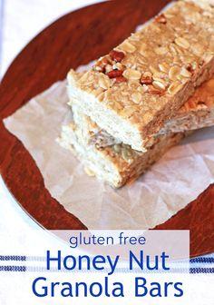 Sarah Bakes Gluten Free Treats: guest post...gluten free honey nut granola bars