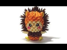 3D origami lion kid - YouTube