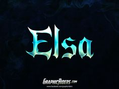GraphicRiders | Fantasy style – Elsa (free photoshop layer style, text effect) #graphicriders