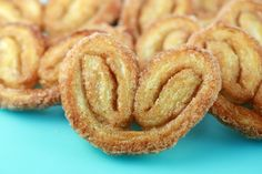 PETIT PALMIER: 1.5C sugar, 2.5t cinnamon, and 16 ounces puff pastry